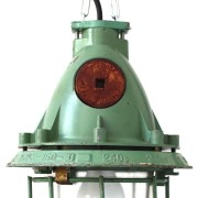 vintage industrial lamp green